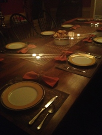 Pretty table setting by Emily