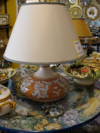 Maiolica lamp I purchased from a shop in Ravello