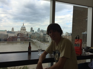 Ian with St. Paul's (not a St. Pauli) in the background