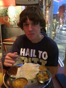 Ian enjoying some great Indian vittles