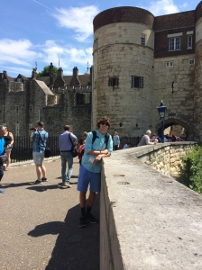 Ian at the Tower of London