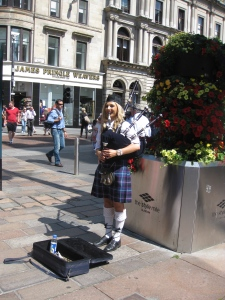 Lady piper in Glasgow